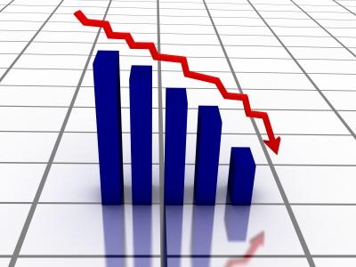 caída mercados gráfico